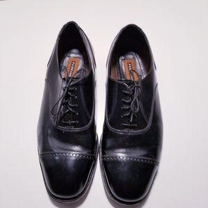 Florsheim Black Leather Mens Oxford Shoes sz-11
